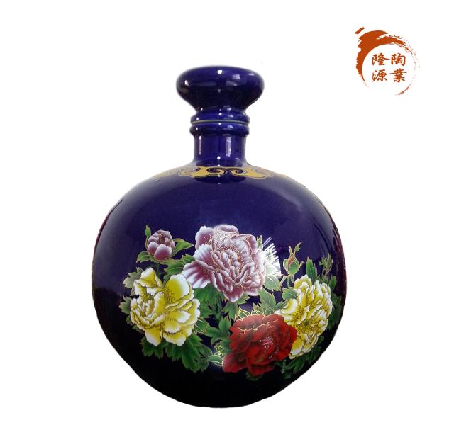 高档烤花陶瓷酒瓶